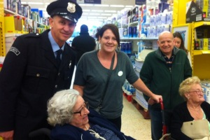 Residents run into Gary Lineker during a visit to the local shops